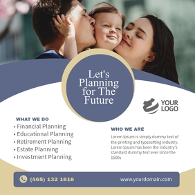 Financial Planning Flyer instagram