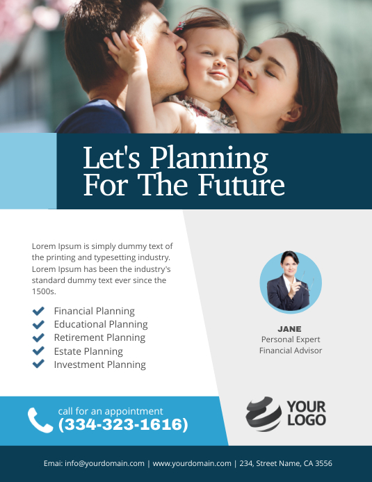 Financial Planning Flyer Poster
