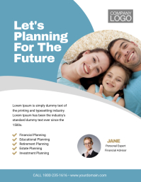 Financial Planning Flyer Template