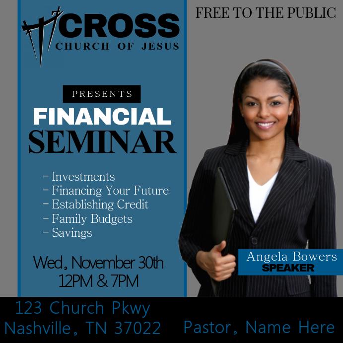Financial Seminar Template | PosterMyWall