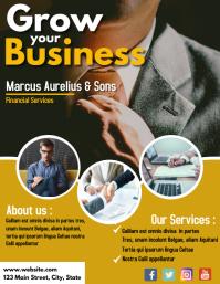 financial services business flyer design temp