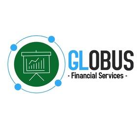 Financial services logo icon globus
