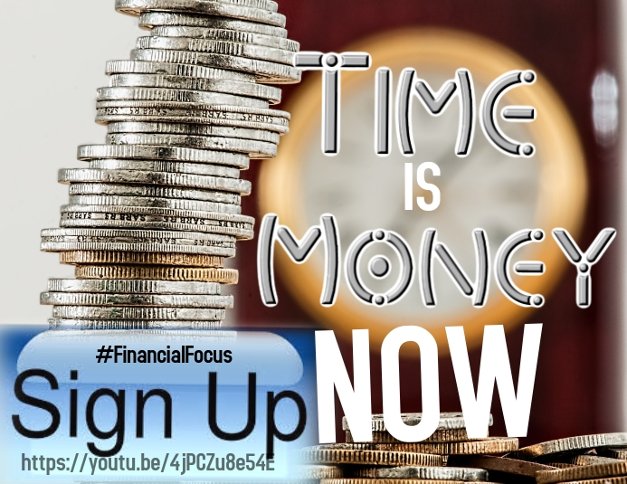 Financial - Time is Money Pamflet (Letter AS) template