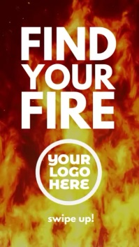 Find your Fire motivation story ad Digital Display (9:16) template