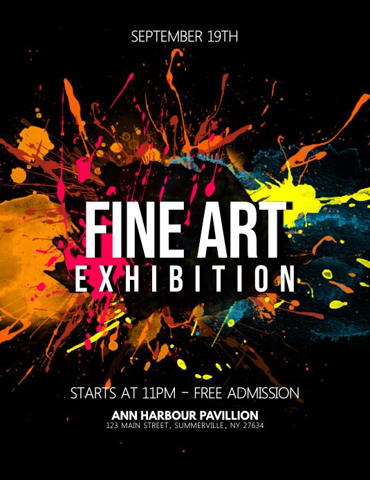 Fine Art Exhibition Flyer