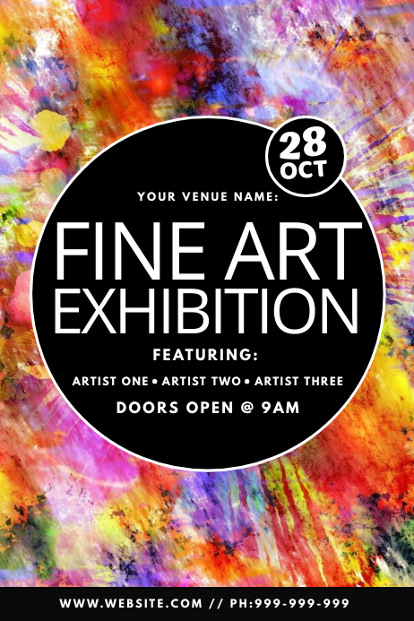 Fine Art Exhibition Poster Cartaz template