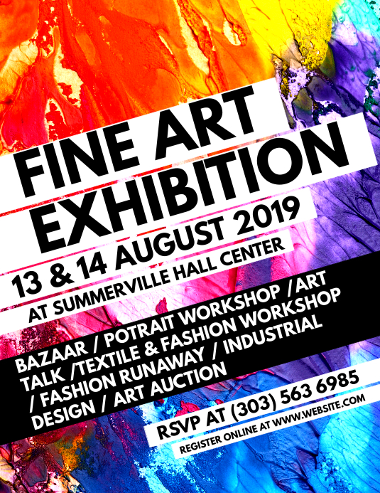 Customizable design templates for art exhibition postermywall fine art exhibition flyer stopboris Choice Image