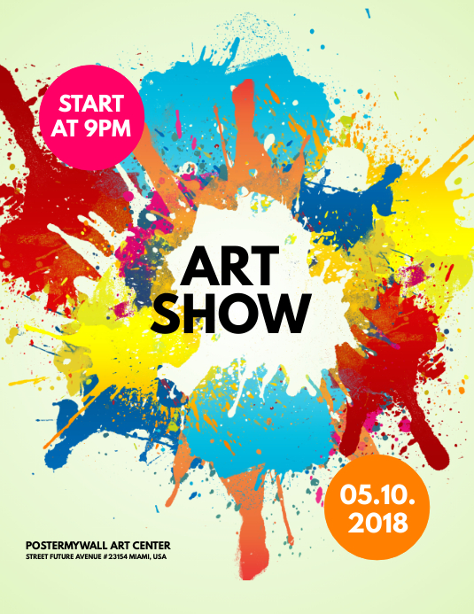 art show flyer template postermywall