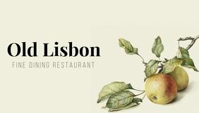 Fine dining restaurant business card Cartão de visita template