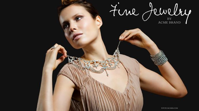 Fine jewelry Template Digitale display (16:9)