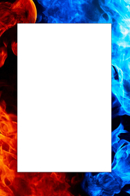 Fire & Ice Party Prop Frame