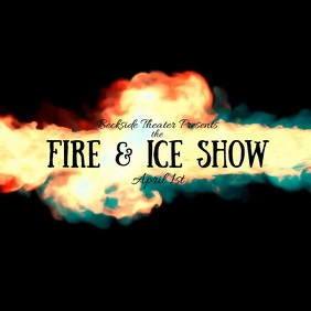 Fire and Ice Show Video Quadrado (1:1) template
