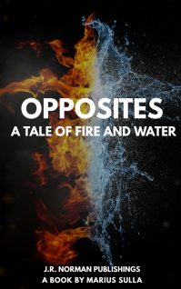 fire and water book cover design template Kindle/Book Covers