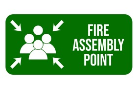 Fire Assembly Point Sign Tabloid template