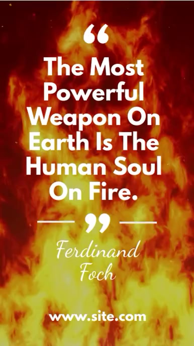 Fire Background Quote about Fire