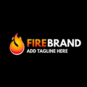fire brand logo template design