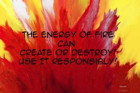Fire customizable @postermywall