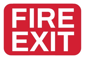 Fire Exit Sign Board Template A4