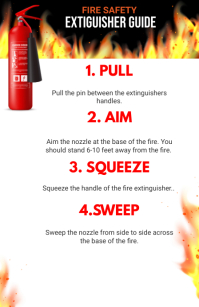 FIRE EXTINGUISHER GUIDE Tabloid template