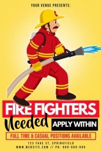 Fire Fighters Needed Poster