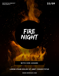 Fire Flame Party Flyer Template