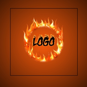 FIRE logo TEMPLATE SQUARE CIRCLE DESIGN