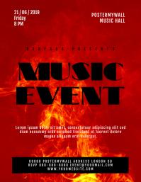 Fire Music Event Flyer Template
