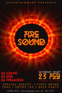 Fire Music Flyer Template
