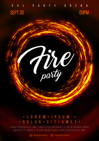 FIRE PARTY POSTER A4 template
