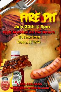 Fire Pit BBQ Template