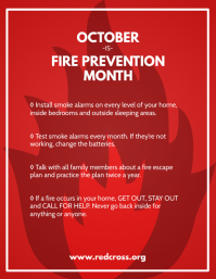 Fire Prevention Free Poster Template