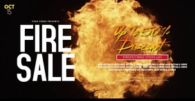Fire Sale Facebook Event Cover Poster