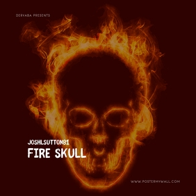 Fire Skull Mixtape Cover