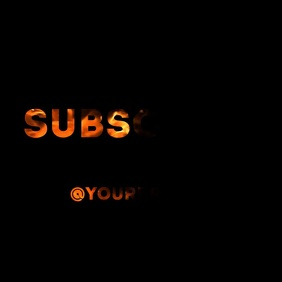 Fire Subscribe text mask video