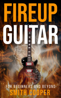 Fire up guitar Kindle music book cover template