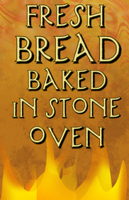 fire with fresh baked bread bakery template