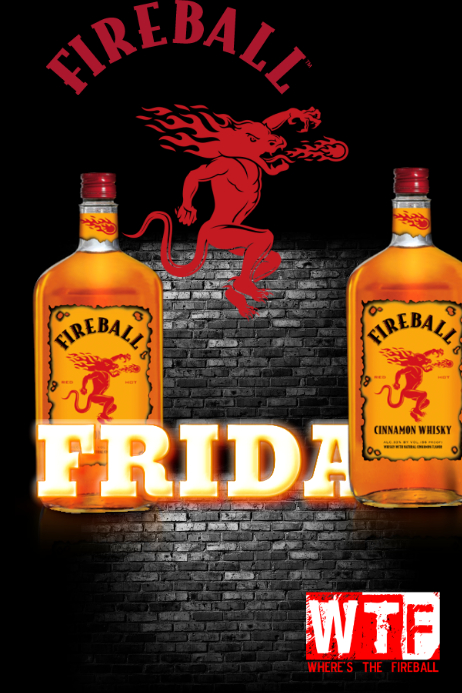 fireball friday drink special template postermywall
