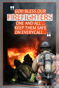 Firefighter Motivational Poster Template