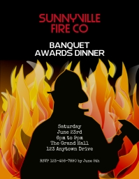 firefighters banquet awards dinner flyer