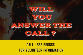 Firefighters Volunteers wanted