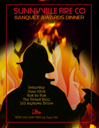 firemen's banquet awards dinner flyer