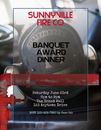 firemens banquet awards dinner flyer template