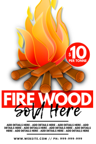 Firewood Sold Here Poster Iphosta template