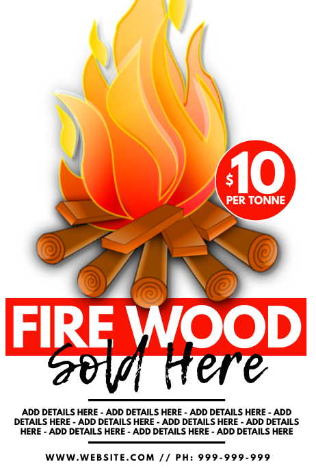 Firewood Sold Here Poster 海报 template