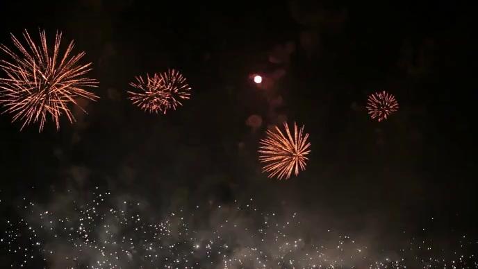 Firework in sky beautiful celebration video YouTube Thumbnail template