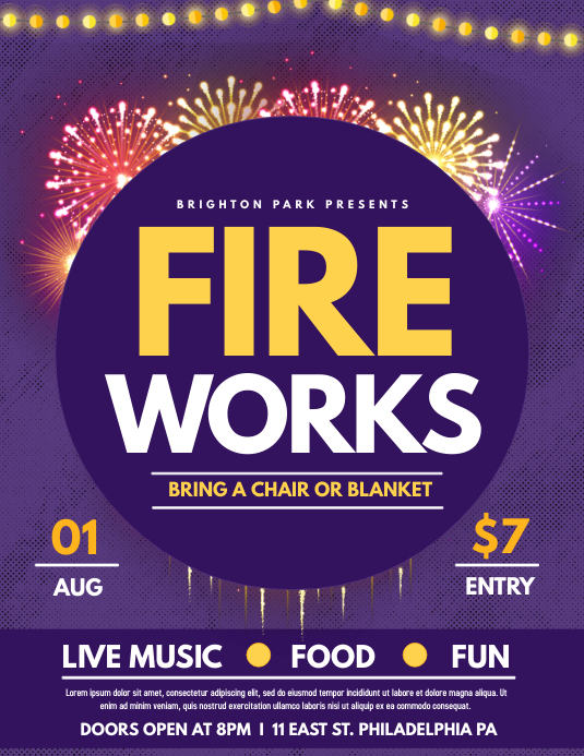 Fireworks Flyer (Letter pang-US) template