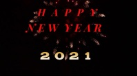 Fireworks New Year 2021 Template background Affichage numérique (16:9)