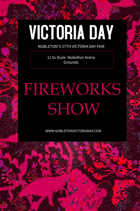 Fireworks Victoria Day Template Poster