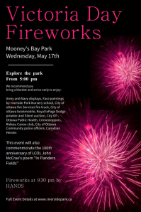 Fireworks Victoria Day Template