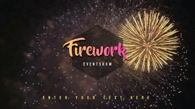 Fireworks Video Template Ekran reklamowy (16:9)
